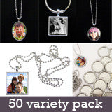 Photo Jewelry StartUp Variety Kit Makes 50 Pendants and Key Chains