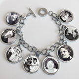 Dangling 8 Frame Photo Charm Bracelet Kit Double Sided
