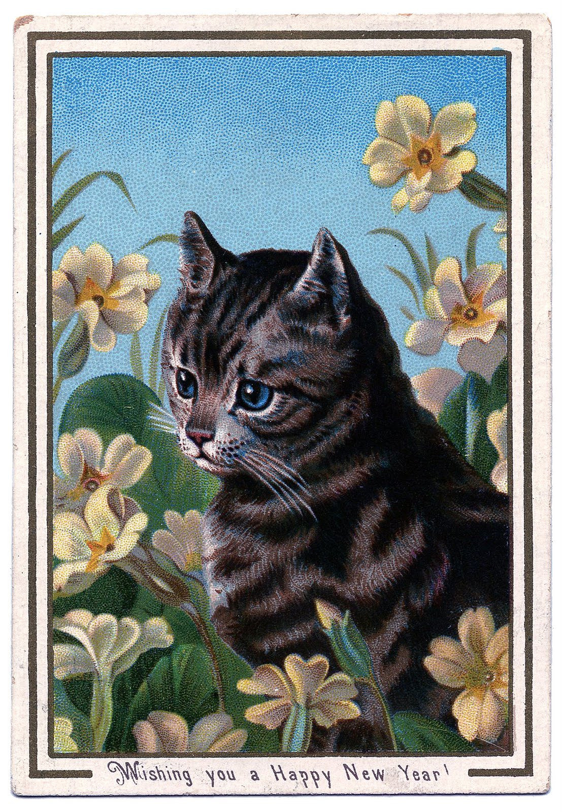 Free Vintage Cat Image To Download - Photo Jewelry Making