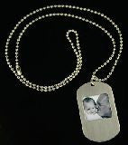 "10 Pack Dog tag style Photo Necklace and 24"" Chains Photo Jewelry"