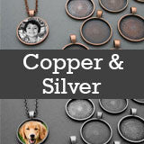 Copper And Silver Variety Kit Makes 20 Necklaces! 25mm Circles Photo Jewelry