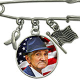 Veteran American Flag Wedding Boutonniere Photo Pin Or Bouquet Charm Brooch 25mm