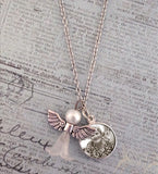 Mini Memorial Angel Photo Necklace Kit - Photo Jewelry Making