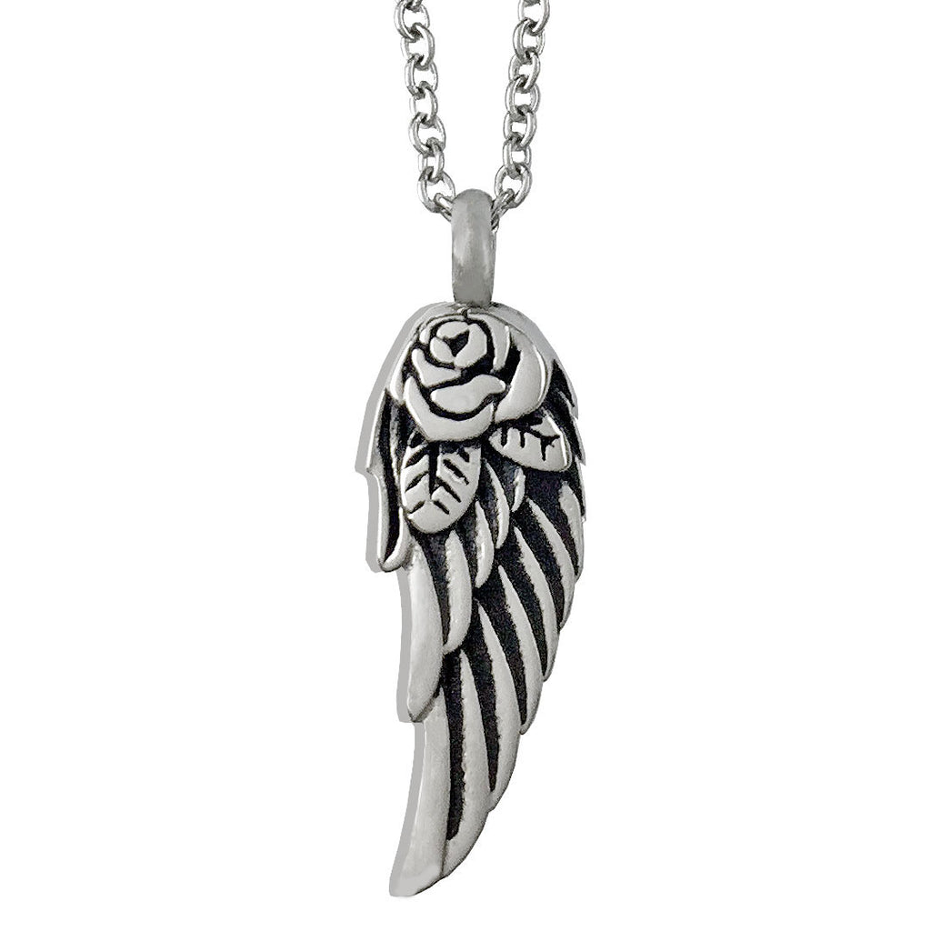 Angel Wing Memorial Ashes Holder Urn Necklace Pendant