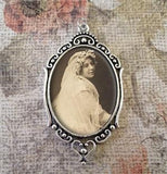Oval Wedding Bouquet Photo Charm w/ Cover