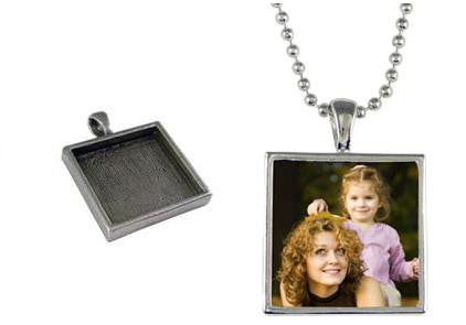 Scrapbook Photo Necklace Home Business Kit Makes 12 Necklaces - Photo Jewelry Making
