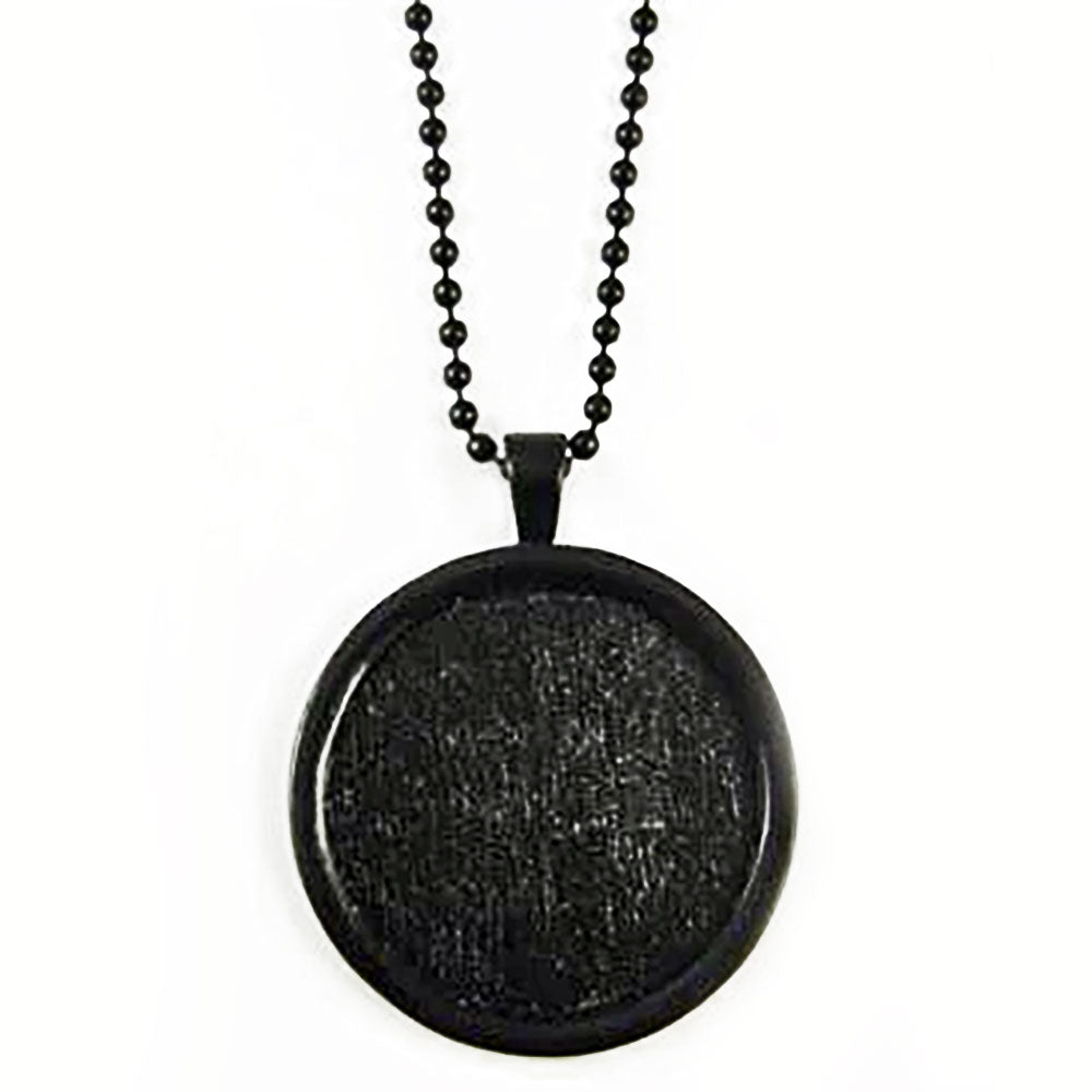 Makes 10 Large Black Onyx Circle Photo Jewelry Pendants