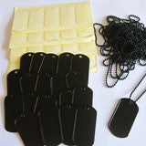 10 Pack Black Photo Dog Tag Supplies - Photo Jewelry Making