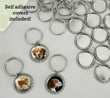 Makes 10  Bottle Cap Photo Jewelry Keychains Kit - Photo Jewelry Making