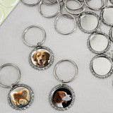 Makes 10  Bottle Cap Photo Jewelry Keychains Kit