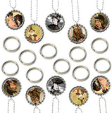 20 Pack Bottle Cap Photo Necklace / Photo Keychain Kit - Photo Jewelry Making
