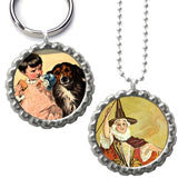 20 Pack Bottle Cap Photo Necklace / Photo Keychain Kit