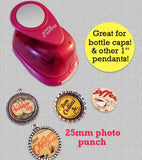Round Circle 1 Inch 25mm Pendant Making Punch Photo Jewelry