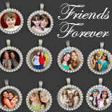 Makes 10 Friends Forever Bridal Party Rhinestone Wedding Bouquet Photo Charms Kit