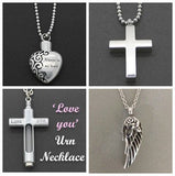 Bundle 4 Pack Memorial Ashes Holder Urn Necklaces