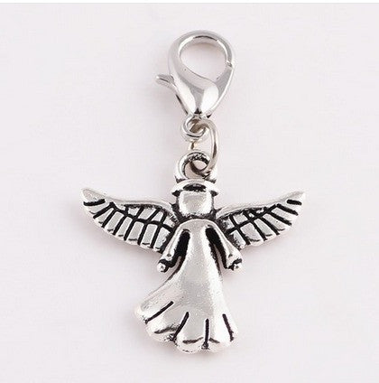Add a Silver Angel w/ Wings Charm Clip On