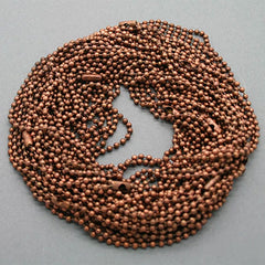 "Copper Ball Chain Necklaces 24"" - Choose Quantity"