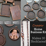30 Pack Copper Variety Photo Jewelry Pendant Home Business Kit - Photo Jewelry Making
