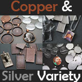 Copper And Silver Variety Pack Kit Makes 40 Necklaces! - Photo Jewelry Making
