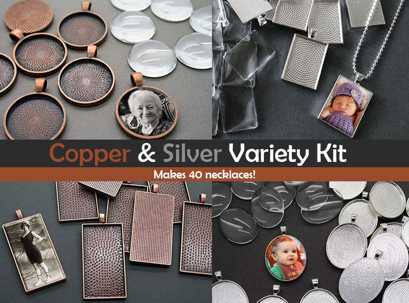 Copper And Silver Variety Pack Kit Makes 40 Necklaces! Photo Jewelry