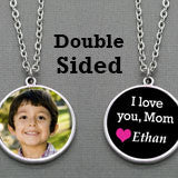 DIY I Love Mom Double Sided Photo Pendant Set