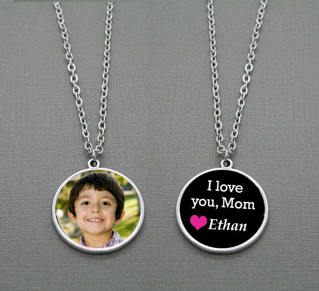 DIY I Love Mom Double Sided Photo Pendant Kit