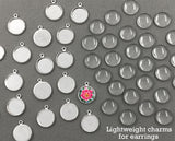 20 Pack Lightweight Mini Photo Charms For Use With Earrings