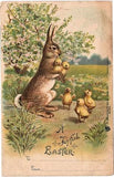 Free Vintage Easter Bunny Card - Photo Jewelry Making