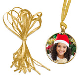 100 Pack Hand Tied Gold Ribbons Christmas Ornament Decoration Hangers