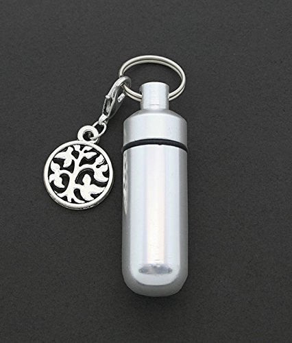 20 Pack Ashes Holder Urn Memorial Key Chains with Tree of Life Charms