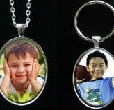 Makes 20 Instant Oval Glass Photo Jewelry Necklace and Keychain Variety Kit - Photo Jewelry Making