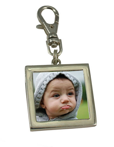 Easy Change Photo Lanyard Charm With Lobster Clasp Photo Jewelry