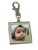Easy Change Photo Charm Zipper Pull With Lobster Clasp