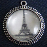 20 Pack Photo Jewelry Antique Silver Pendant  30mm No Glass