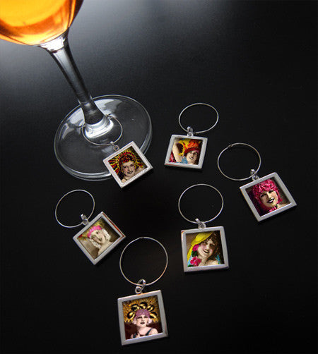 Instant Photo Wine Charms Kit Makes 6 Wine Tags - Photo Jewelry Making