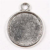 10 Pack Reversible  Photo Pendants  Antiqued 1 inch - Photo Jewelry Making
