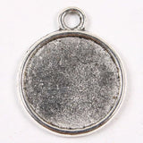10 Pack Reversible  Photo Pendants  Antiqued 1 inch