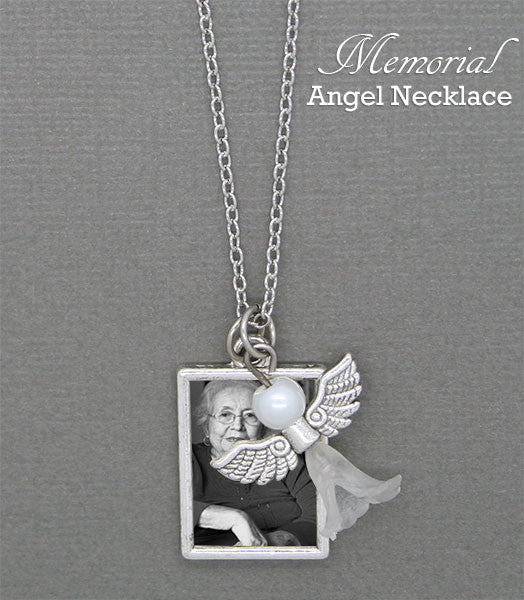Guardian Angel Memorial Portrait Necklace Kit Photo Jewelry
