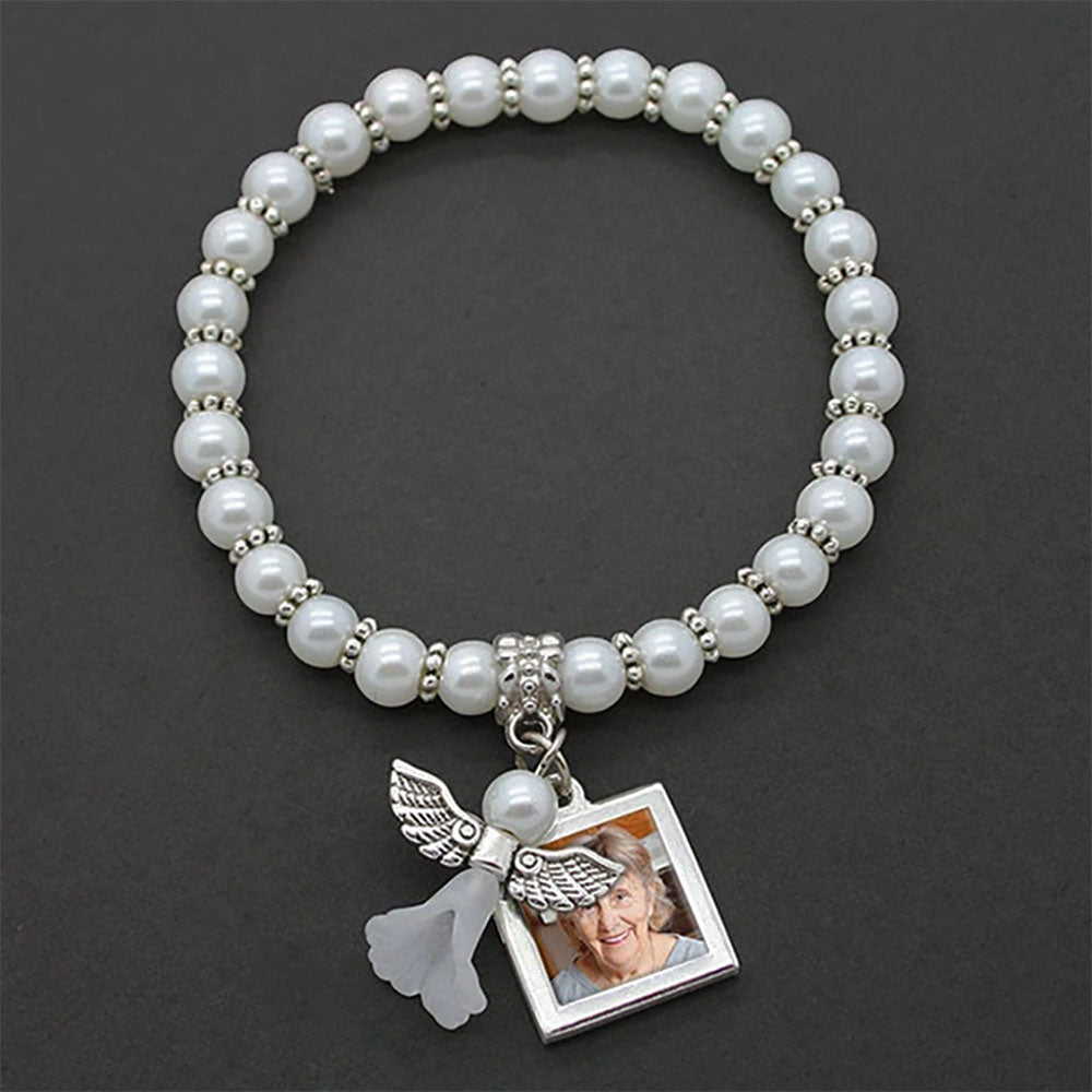 Mini Memorial Angel Photo Bracelet EZ Change Photo Charm