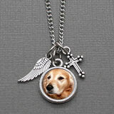 Pet Cross & Angel Wing Photo Necklace Kit