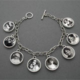 Mini Ancestor Photo Album 8 Frame Picture Bracelet Kit - Add 8 or 16 Photos!