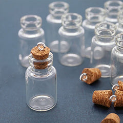 Mini Glass Bottles with Corks - Choose Quantity