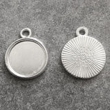 10 Pack Mini Round Blank Photo Charms 12mm - Photo Jewelry Making