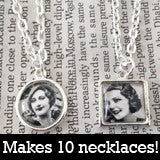Makes 10 Mini Petite Silver Necklace Kit Circles And Squares