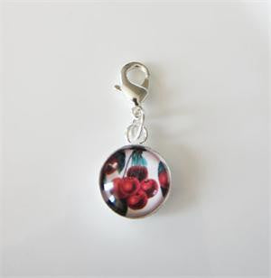 Mini Dangling Clip On Photo Charm w/ Glass - Photo Jewelry Making
