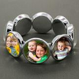 Instant Glass Dome Stretch Photo Jewelry Bracelet Kit