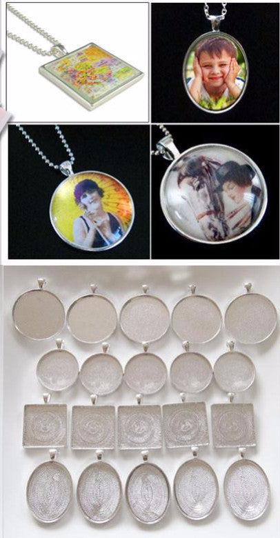 Photo Jewelry Business Start Up Kit Makes 24 - Necklaces and Keychains