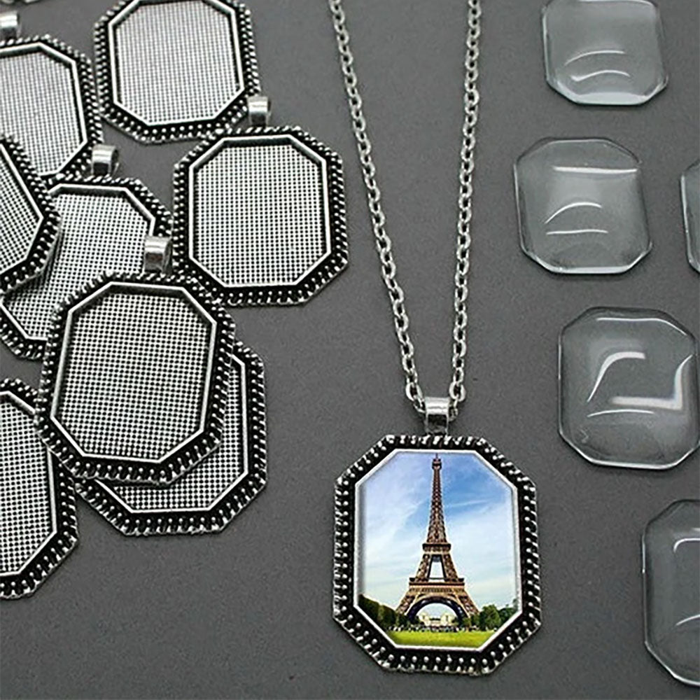 Octagon Photo Jewelry Necklaces Kit Makes 10