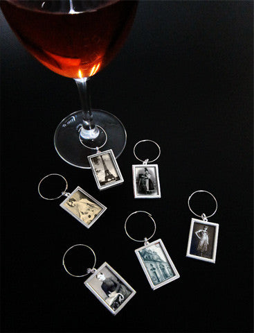 Instant Photo Wine Charms Kit Elite Rectangles Makes 6 Wine Tags Photo Jewelry