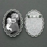 Make Your Own Domed Bubble Photo Brooch Kit - Silver